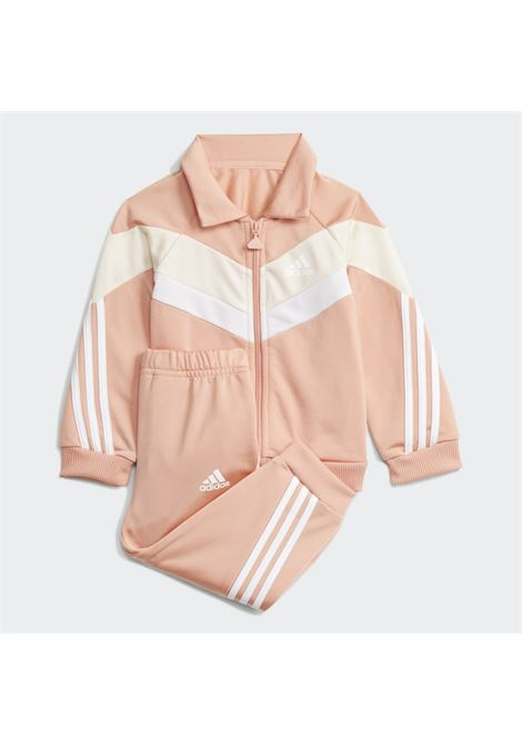 Pink newborn future icons shiny set by adidas ADIDAS   Suit   H28827.