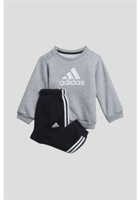 Grey newborn badge of sport set by adidas  ADIDAS   Suit   H28835.
