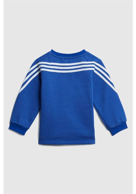 Blue grey newborn future icons 3-stripes suit by adidas ADIDAS | Suit | H28837.