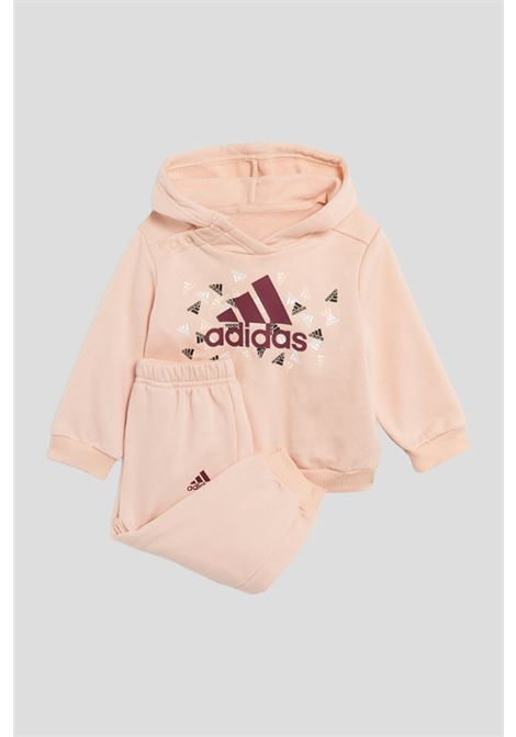 Pink newborn badge of sport graphic suit by adidas ADIDAS   Suit   H28845.