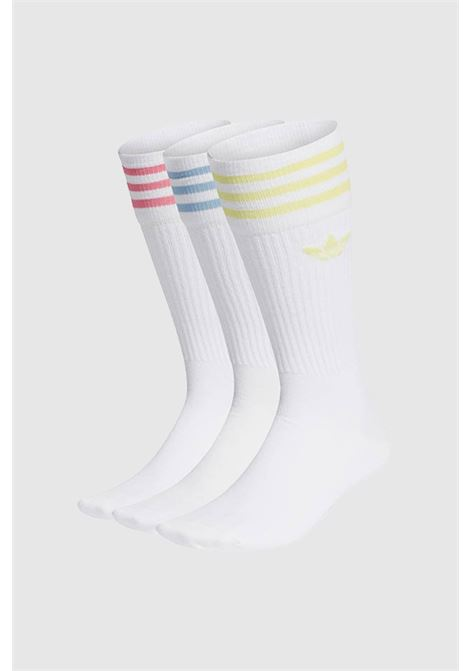 White women's socks by adidas with coloured bands Pack of 3 pairs ADIDAS | Socks | H32329.