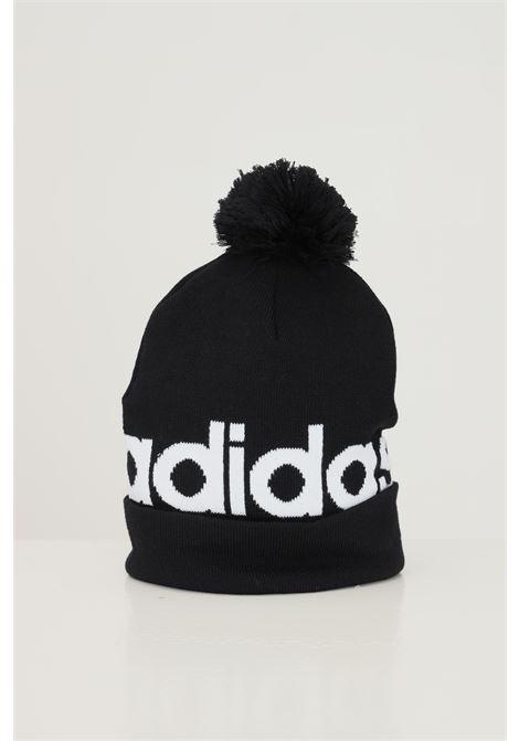 Cappello pompom woolie unisex nero adidas con maxi logo a contrasto ADIDAS | Cappelli | H32425.