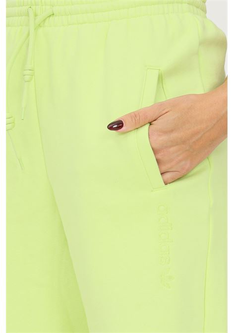 Lime women's trousers by adidas with embroidered logo ADIDAS | Pants | H33331.