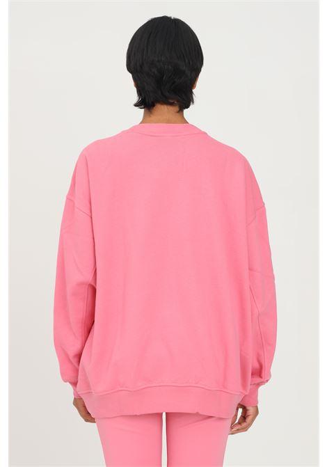 Felpa adicolor classics oversized donna rosa adidas modello girocollo ADIDAS | Felpe | H33542.