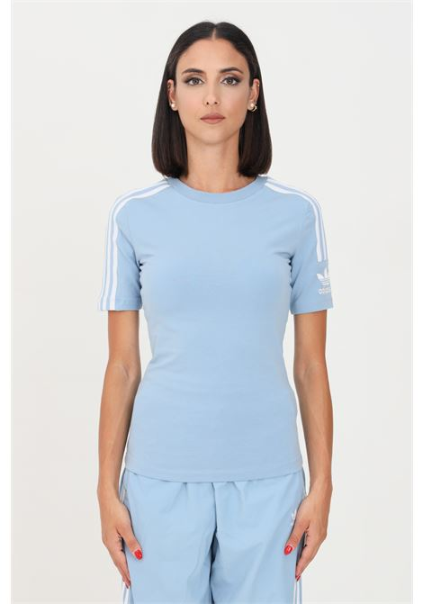 T-shirt tight donna azzurro adidas a manica corta ADIDAS   T-shirt   H33545.
