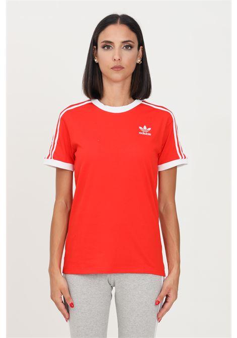 T-shirt adicolor classics 3-stripes donna rosso adidas a manica corta ADIDAS   T-shirt   H33575.