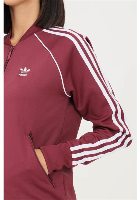 Bordeaux women's track jacket primeblue sst sweatshirt with zip by adidas  ADIDAS | Sweatshirt | H34594.