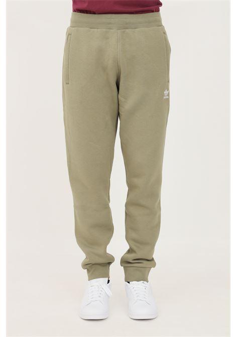 Pantaloni essentials trefoil uomo verde adidas sport ADIDAS | Pantaloni | H34656.