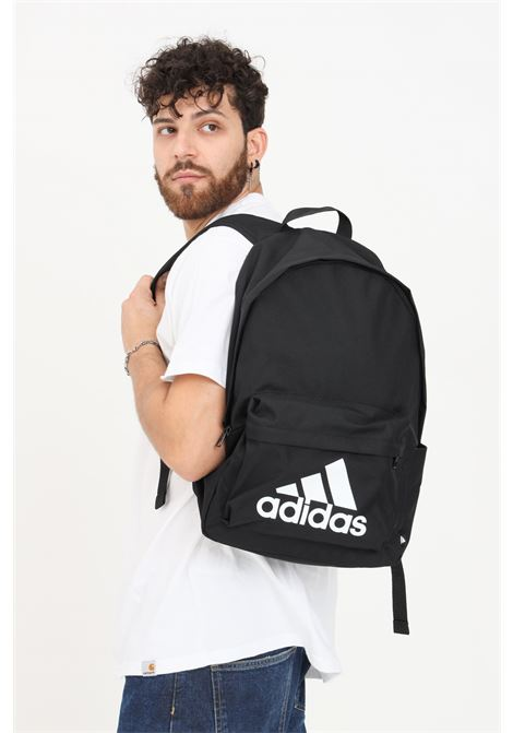 Black unisex classic badge of sport backpack by adidas ADIDAS | Backpack | H34809.