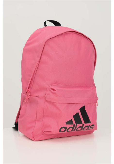 Pink women's backpack by adidas with contrasting logo on the front ADIDAS | Backpack | H34814.