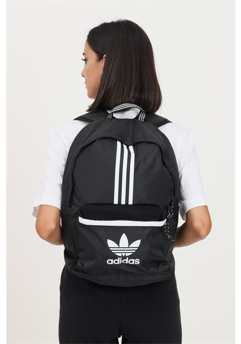Black unisex adicolor classic backpack by adidas with contrasting logo and bands  ADIDAS | Backpack | H35532.