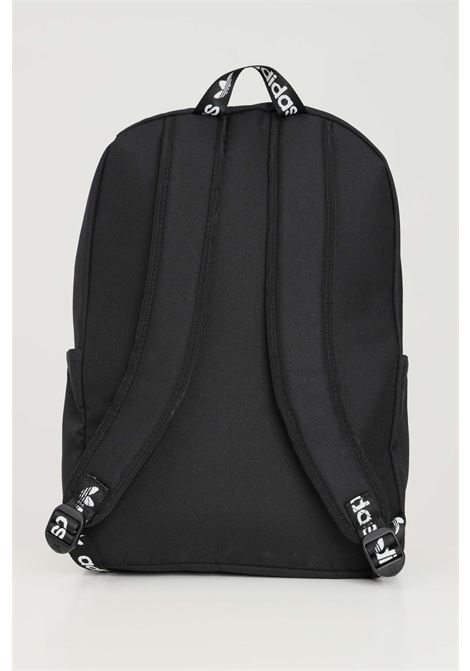 Black unisex backpack with maxi logo in contrast by adidas ADIDAS | Backpack | H35596.