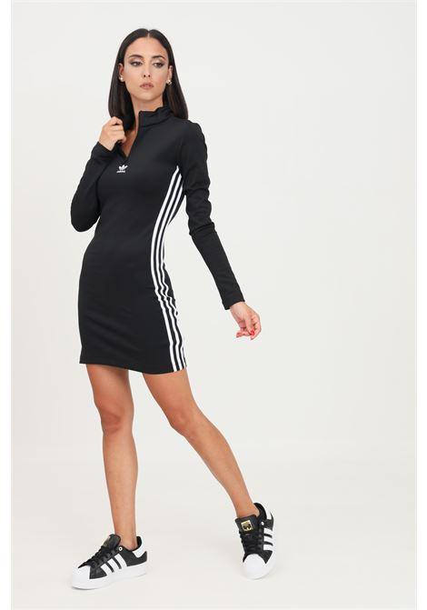 Black dress by adidas short-cut long sleeve ADIDAS | Dress | H35616.