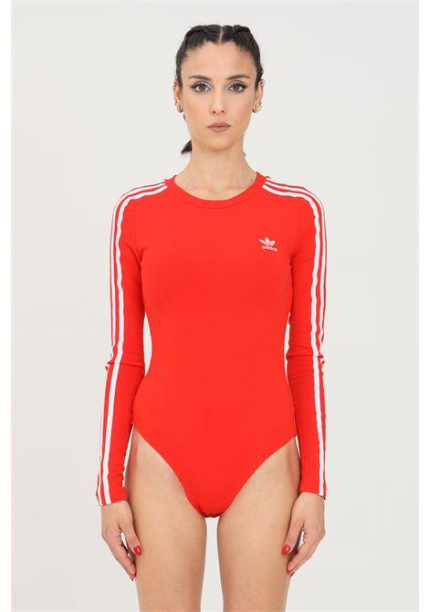 Body donna rosso adidas casual a manica lunga ADIDAS | Body | H35623.
