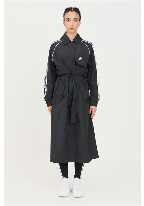 Trench adicolor classics donna nero adidas taglio lungo ADIDAS | Giubbotti | H35630.