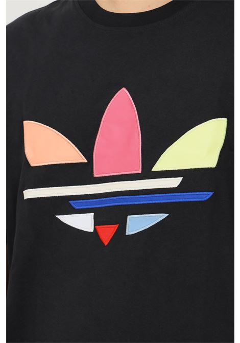 Black men's adicolor shattered trefoil t-shirt by adidas short sleeve ADIDAS | T-shirt | H35646.