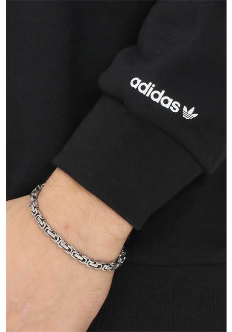 Felpa uomo nero adidas con cappuccio e logo a contrasto ADIDAS   Felpe   H37736.