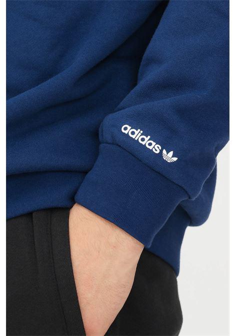 Hoodie adicolor shattered trefoil uomo blu adidas ADIDAS   Felpe   H37741.