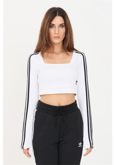 White women's classic adicolor top by adidas ADIDAS | Top | H37769.