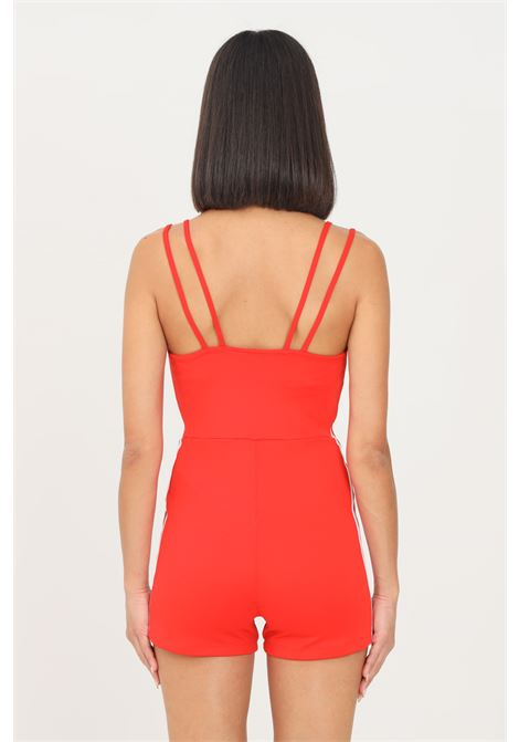 Red women's playsuit adicolor classics jumpsuit by adidas casual model short cut  ADIDAS | Suit | H37782.