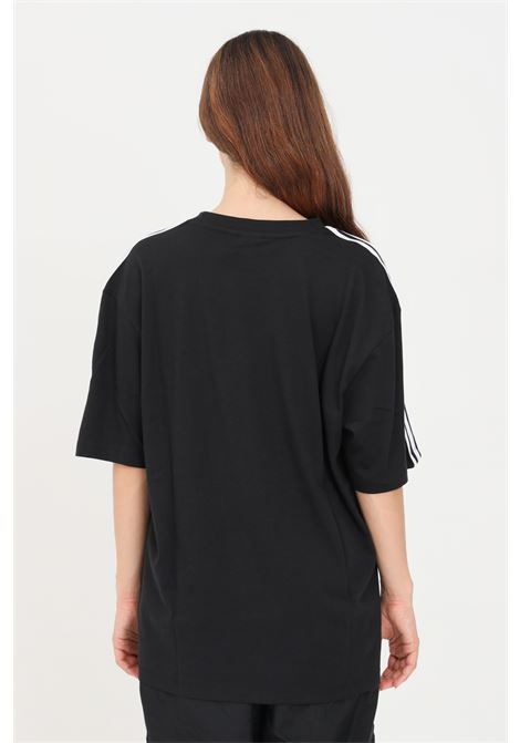 Black women's adicolor classics oversize t-shirt with contrasting bands by adidas  ADIDAS | T-shirt | H37795.