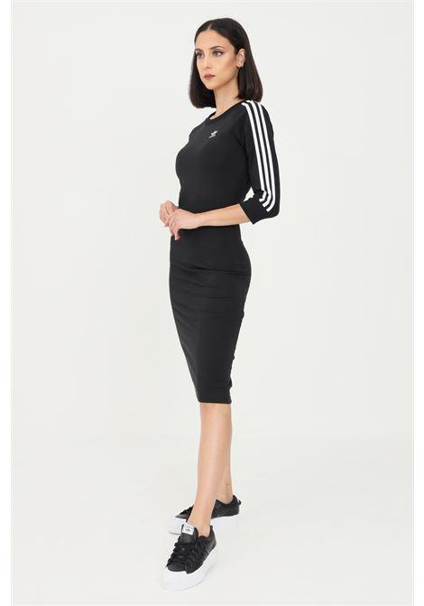 Abito donna nero adidas con taglio midi ADIDAS | Abiti | H38732.
