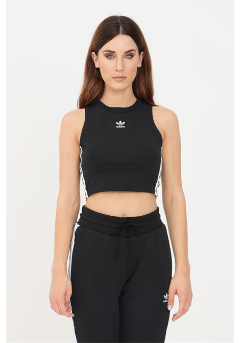 Black women's classic adicolor cropped top by adidas  ADIDAS | Top | H38735.