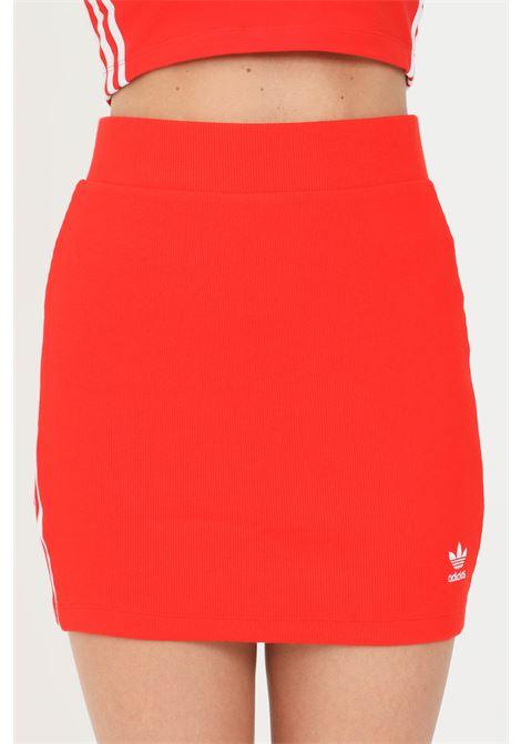Gonna rosso adidas corta a vita alta ADIDAS | Gonne | H38760.