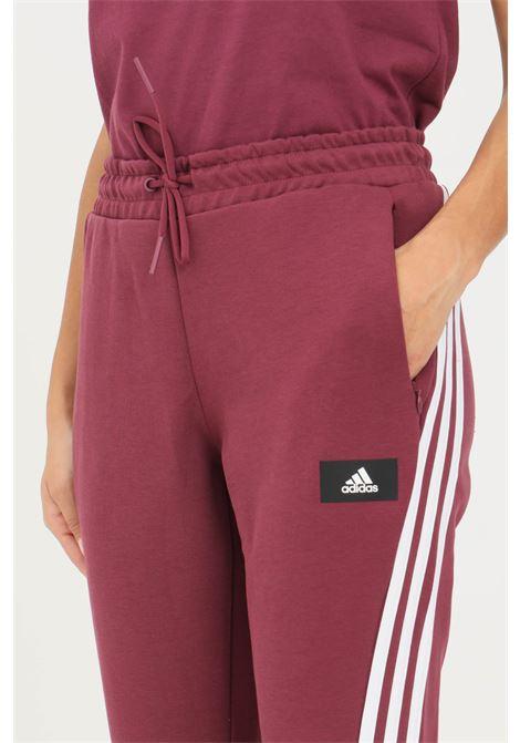 Bordeaux women's adidas sportswear future icons 3-stripes flare trousers ADIDAS | Pants | H39820.