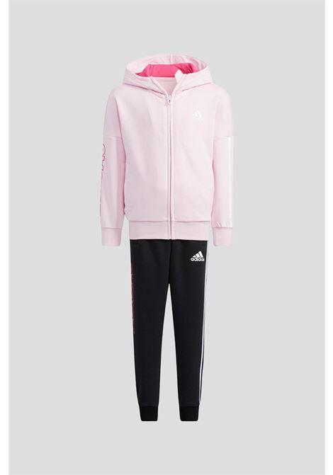 Tuta bambina rosa nero adidas ADIDAS   Tute   H40248.