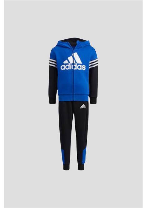 Completo badge of sport fleece bambino unisex blu addas ADIDAS | Tute | H40266.