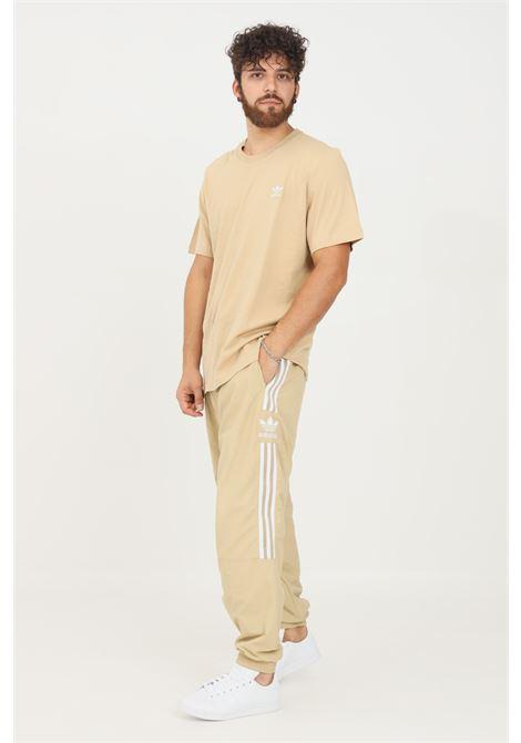 Pantaloni classics lock up trefoil uomo beige adidas sport ADIDAS | Pantaloni | H41385.