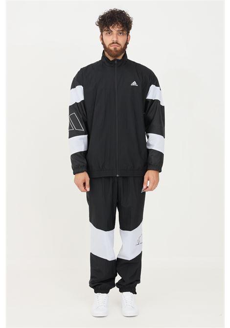Tuta mts 3bars logo uomo nero adidas sport ADIDAS | Tute | H42019.