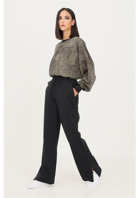 Black women's sweat pants adicolor open hem trousers by adidas  ADIDAS | Pants | H43929.