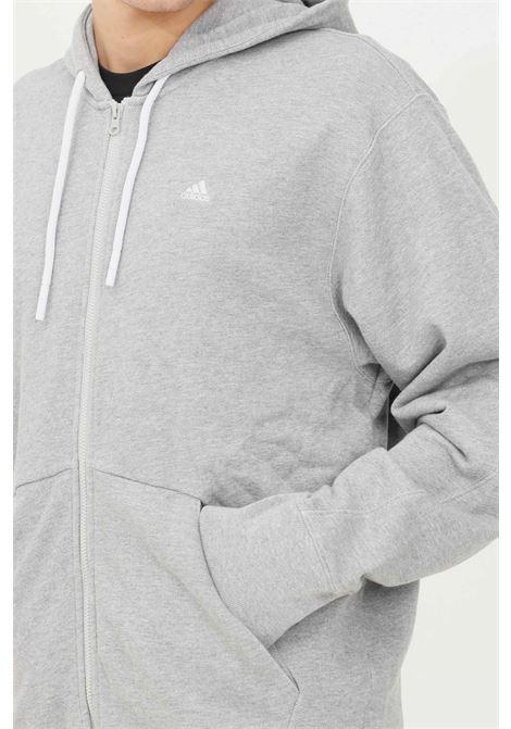 Felpa m fi cc fz uomo grigio adidas con zip e cappuccio ADIDAS | Felpe | H45371.