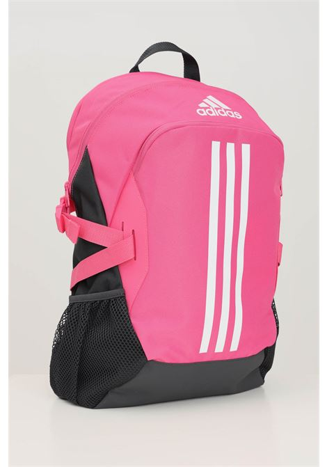Pink women's backpack by adidas with front bands and contrasting logo  ADIDAS | Backpack | H45604.