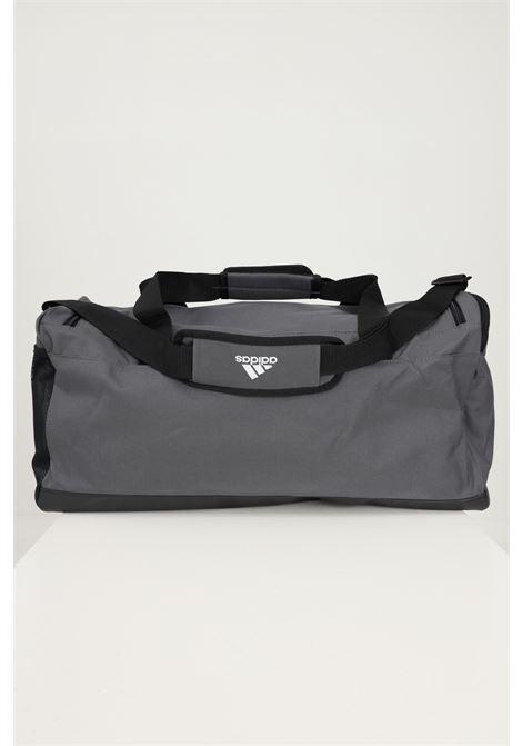 Grey unisex performance linear duffle m sport bag by adidas ADIDAS | Sport Bag | H58228.