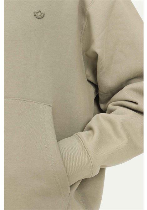 Felpa adicolor trefoil uomo verde adidas con cappuccio ADIDAS | Felpe | H62532.