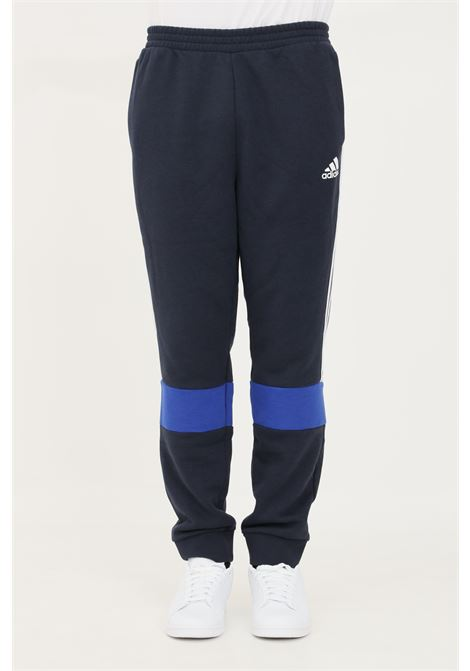 Pantaloni essentials fleece colorblock uomo blu adidas ADIDAS | Pantaloni | H64178.