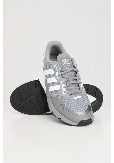Grey men's zx 1k boost sneakers by adidas ADIDAS | Sneakers | H68718.