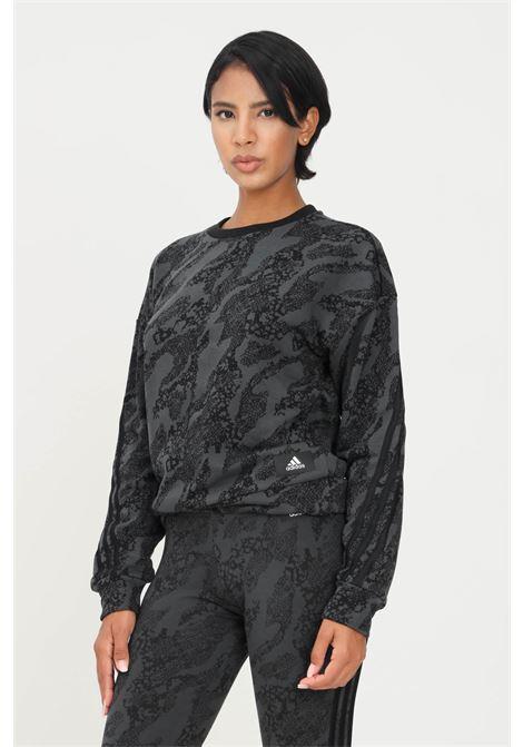 Felpa adidas sportswear future icons animal print donna grigio ADIDAS | Felpe | HA5695.