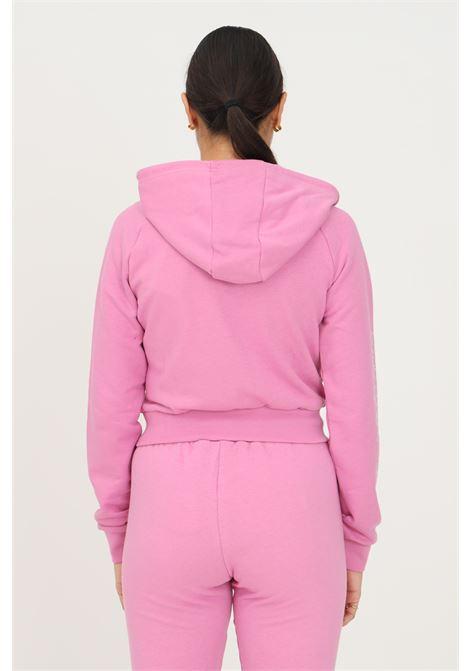 Track top adidas 2000 luxe cropped donna rosa con zip e cappuccio ADIDAS | Felpe | HF6767.