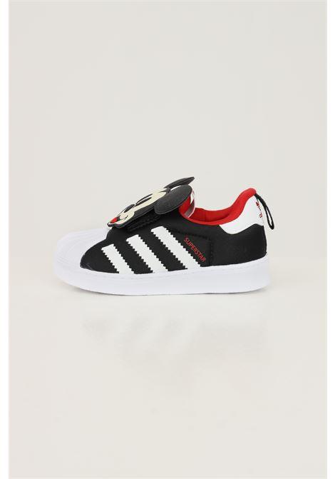 Sneakers disney superstar 360 neonato nero adidas con applicazione topolino ADIDAS | Sneakers | Q46305.