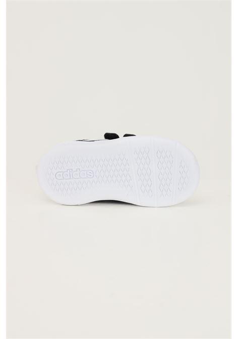Sneakers tensaur i neonato nero adidas con suola bianca a contrasto ADIDAS | Sneakers | S24054.