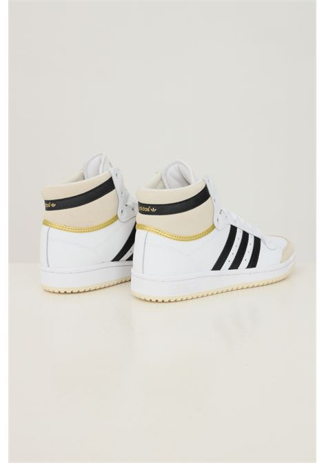 Black unisex top ten sneakers by adidas with contrasting bands ADIDAS | Sneakers | S24134.