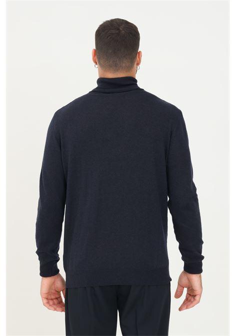 Maglioncino uomo blu alessandro dell'acqua a collo alto ALESSANDRO DELL'ACQUA | Maglieria | AD0785D/M012950