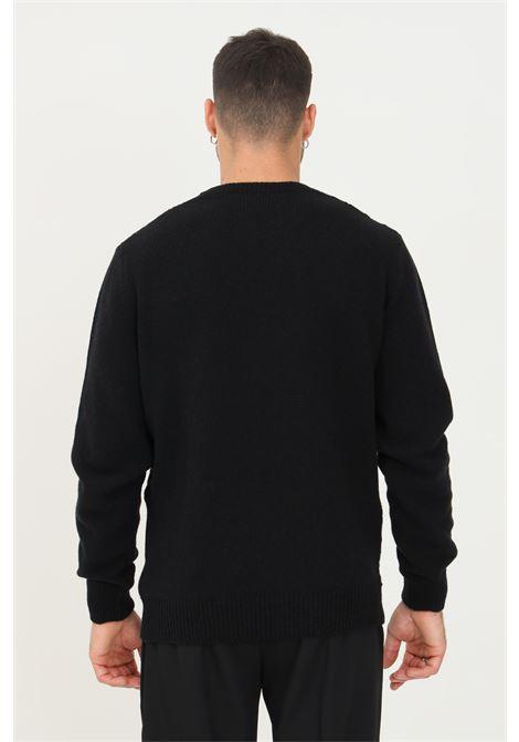 Maglioncino uomo nero alessandro dell'acqua modello girocollo ALESSANDRO DELL'ACQUA | Maglieria | AD0789G/M020180