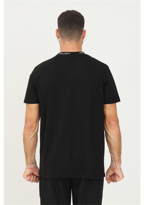 T-shirt uomo nero alessandro dell'acqua a manica corta con girocollo logato ALESSANDRO DELL'ACQUA | T-shirt | AD0798/K016380