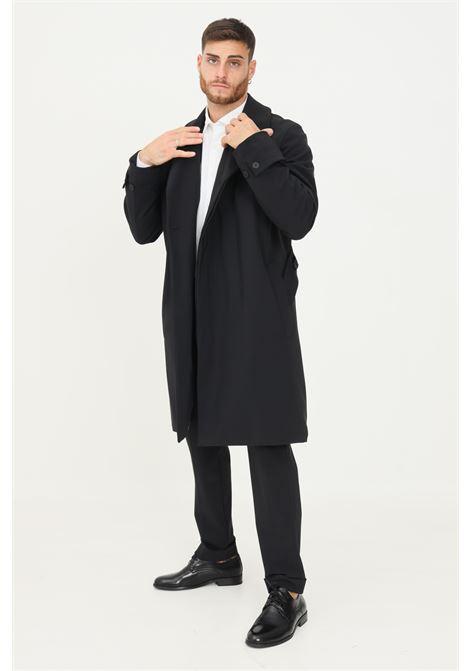 Giubbotto uomo nero alessandro dell'acqua taglio lungo con fodera stampata ALESSANDRO DELL'ACQUA | Giubbotti | AD1187I/J0110EJ80