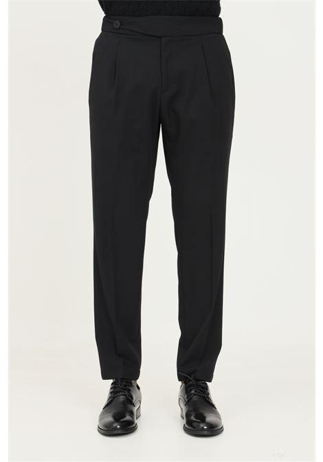 Pantaloni uomo nero alessandro dell'acqua con elastico posteriore in vita ALESSANDRO DELL'ACQUA | Pantaloni | AD7310/T2342E80